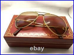 Vintage Cartier Vendome Sunglasses / Eyeglasses Size 59-14-140! Santos with Case