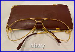Vintage Cartier Vendome glasses 22K Gold 6214