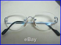 Vintage Cartier Venice C Decor Rimless Platine sunglasses glasses eyeglasses
