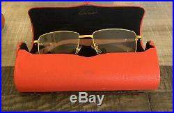 Vintage Cartier Wooden Eyeglasses With case