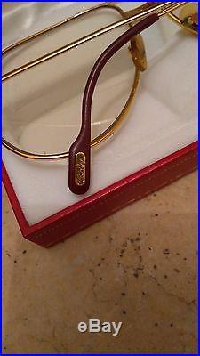 Vintage Cartier vendome santos eyeglasses frame in very good condition size 62