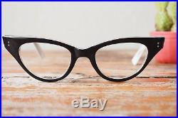 Vintage Cat Eye Frame 1960s Eyeglasses Double Layer Plastic France eyeglass