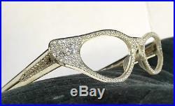 Vintage Cateye Rhinestone Eyeglass Frames NOS Jeweled 1950s Cat Eye Eyeglasses