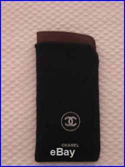 Vintage Chanel Eyeglass Case Burgundy Caviar Grain Lambskin, 6.5 by 3 NIB
