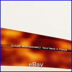 Vintage Claude Montana/Mikli Round Lens Tortoise Eyeglass Frames Handmade France