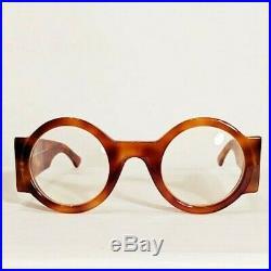 Vintage Claude Montana Round Lens Tortoise Eyeglass Frames Handmade France
