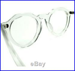 Vintage Crown Panto 1950 French Eye Glasses Crystal Clear New Old Lunettes NOS