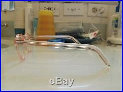 Vintage Crown Panto 1950 French Eye Glasses Crystal pink Lunettes beautiful