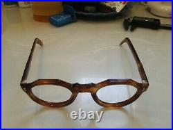 Vintage Crown Panto 1950 French Eye Glasses Tortoise Brown Lunettes beautiful