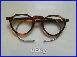 Vintage Crown Panto 1950 French Eye Glasses Tortoise Brown Lunettes eyeglasses