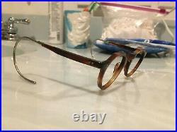 Vintage Crown Panto 1950 French Eye Glasses Tortoise Brown Lunettes eyeglasses 9