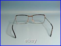 Vintage Essel White Gold Filled Rectangular Eyeglasses Frame France 55/21 #357