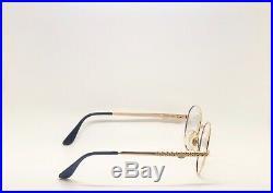 Vintage Ettore Bugatti 508 0104 Gold Round Eyeglasses Optical Frame Lunettes RX