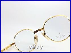 Vintage Ettore Bugatti 508 0301 Gold Round Eyeglasses Optical Frame Lunettes RX