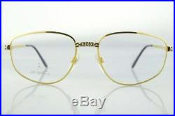 Vintage Ettore Bugatti EB 506 0106 Gold Silver Oval Designer Eyeglasses Frame RX