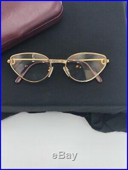 Vintage Eyeglasses Cartier Rivoli Gold Silver Woman Frame Sunglasses Vendome