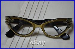 Vintage Eyeglasses, Clear Rhinestone Gold Frames Glasses by Swank