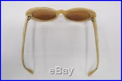 Vintage FRANCIS KLEIN Rx EYEGLASSES Frames X46 235 White Pearl Marble 9179