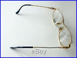 Vintage FRED ALIZE eyeglasses sunglasses France rare gold plated Force MEDIUM 57
