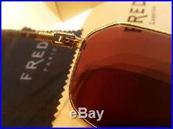 Vintage FRED CAP HORN Sunglasses Eyeglasses Force Lit Bezels Eyewear