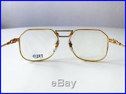 Vintage FRED CAP HORN eyeglasses sunglasses France 24K gold plated MEDIUM 56