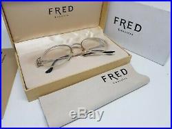 Vintage FRED FEROE Platinum Sunglasses Occhiali Brille Lunettes Frame