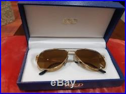 Vintage FRED Lunettes America Cup Paris Eye-Sun glasses Force 10 C Gold Plated