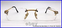 Vintage FRED Lunettes Orcade 179448 Rimless Eyeglasses