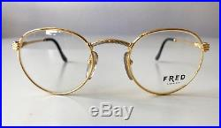 Vintage FRED OURAGAN eyeglasses unisex France rare gold plated Cup Force Ocean