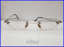 Vintage FRED Sunglasses Rimless Eyeglasses PLATINUM
