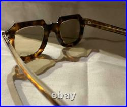 Vintage Frame France 1950's Gargoyle Fat Temple Eye Glass Free Shipping from JPN