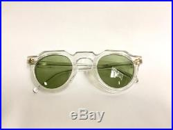 Vintage Frame France Thick Crown Panto Eyeglasses made In France clear frame