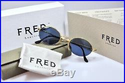 Vintage Fred COMORES Occhiali Golden Eyeglasses brille lunettes frames NEW NOS