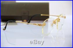 Vintage Fred CORVETTE Full golden Rare Rimless Eyeglasses New complete Keychain