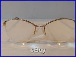 Vintage Fred Cythere Gold Plated Eyeglasses Half Rim Made In France