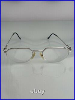 Vintage Fred Lunettes Beaupre Platinum Eyeglasses Force 10 Made In France