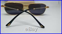 Vintage Fred Zephir Gold & Platinum Sunglasses Eyeglasses brille lunettes france
