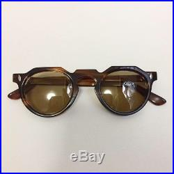 Vintage French Eyeglasses Thick Crown Panto Handmade In France