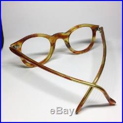 Vintage French Honey Amber Panto Eyeglasses / Handmade In France