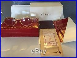 Vintage Genuine Cartier Panthere GM Gold Plated Eyeglasses Frame 49 18 130