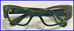 Vintage Green Oval Eyewear Glasses 44x20 5 1/2 Inch Temple Swank France