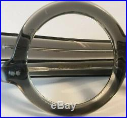 Vintage Grey George Burns Style Round Frame With Straight Temple 5.5 44x26