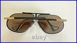 Vintage Jean Claude Killy 470 Aviator Eyeglasses 470 Matte Black & Gold 65mm