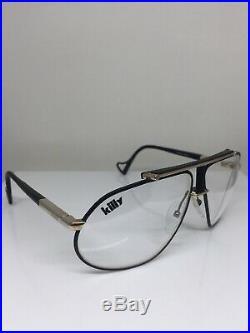 Vintage Jean Claude Killy 470 Aviator Eyeglasses M. 470 Matte Black & Gold 63mm