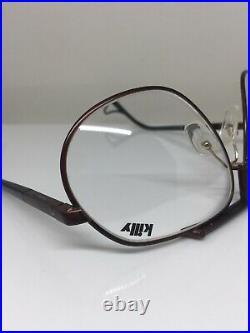 Vintage Jean Claude Killy 470 Aviator Eyeglasses M. 470 Matte Brown & Black 65mm