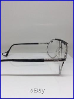 Vintage Jean Claude Killy 470 Aviator Eyeglasses M. 470 Palladium & Ruthenium