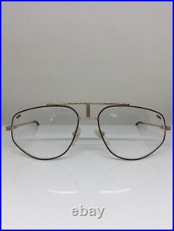 Vintage Jean Claude Killy 498 Aviator Eyeglasses M. 498 C. 049 Tortoise & Gold