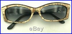 Vintage Jean LaFont Paris Olip 719 Gold Black Pink Pearl Oval Eyeglasses Frames