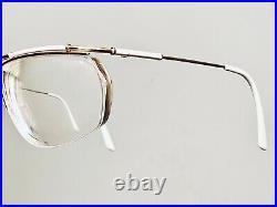 Vintage Logo 006 Faux Bamboo Gold Half Rim Designer Eyeglasses Sunglasses France
