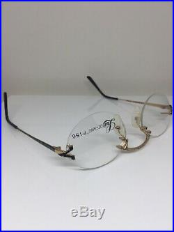 Vintage Lux De Paris Soprani Eyeglass Frame Rimless Eyeglasses F156 Gold France
